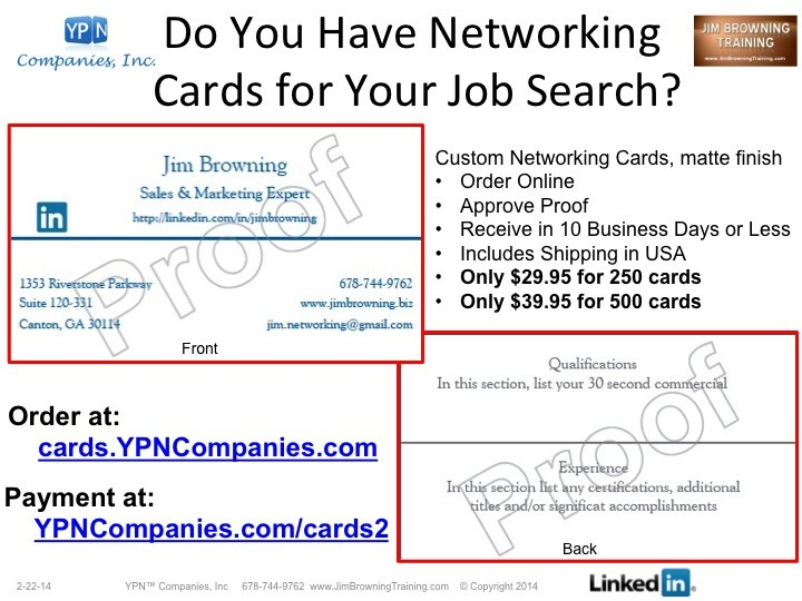 Business cards a job search tool jim browning pulse linkedin reheart Gallery